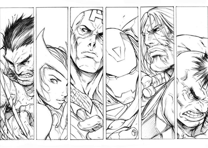 Avengers coloring #20, Download drawings