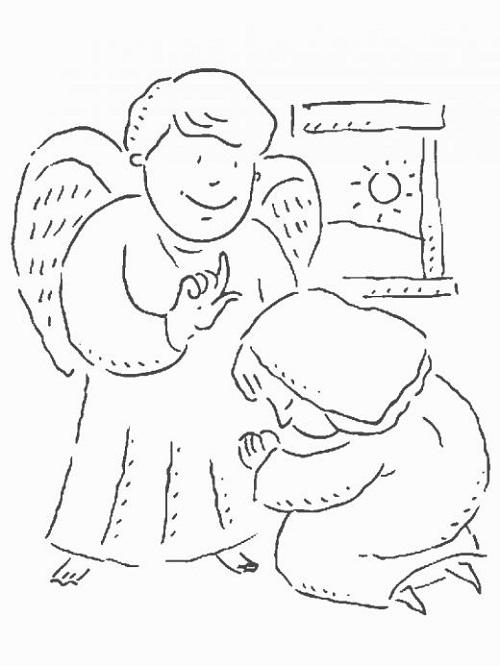 Awaiting Angel coloring #19, Download drawings