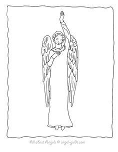 Awaiting Angel coloring #12, Download drawings