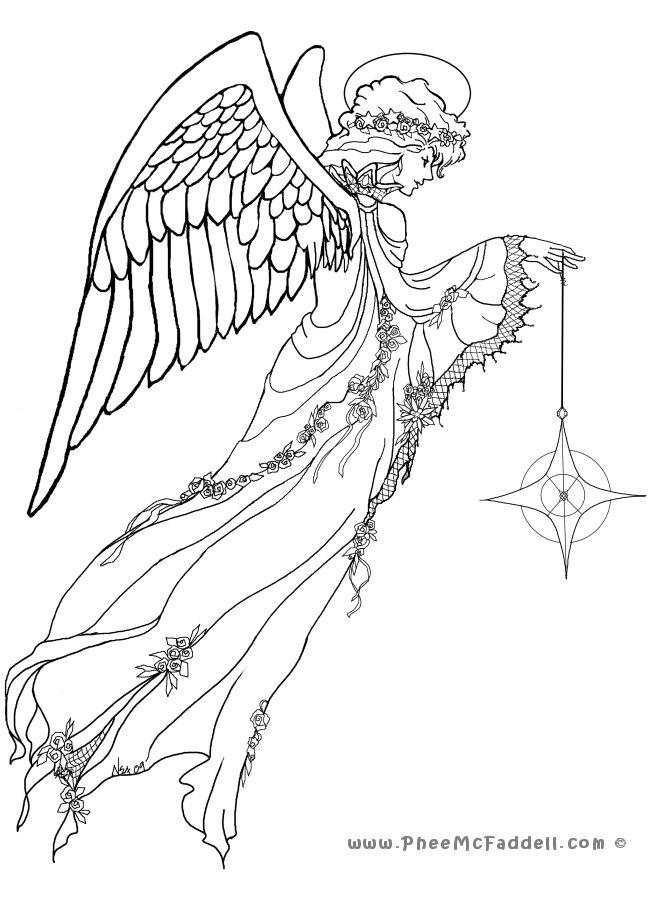 Awaiting Angel coloring #10, Download drawings