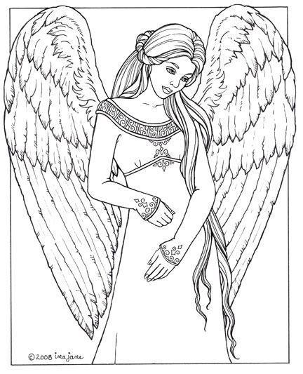 Awaiting Angel coloring #7, Download drawings