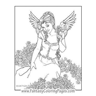 Awaiting Angel coloring #17, Download drawings