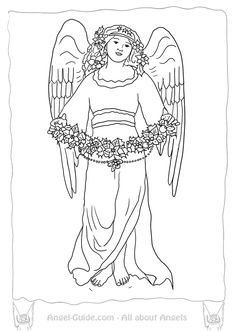 Awaiting Angel coloring #18, Download drawings