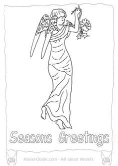 Awaiting Angel coloring #14, Download drawings