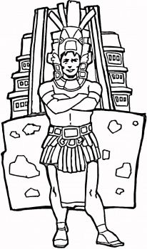 Aztec Civilization coloring #19, Download drawings