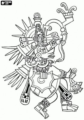 Aztec Civilization coloring #14, Download drawings