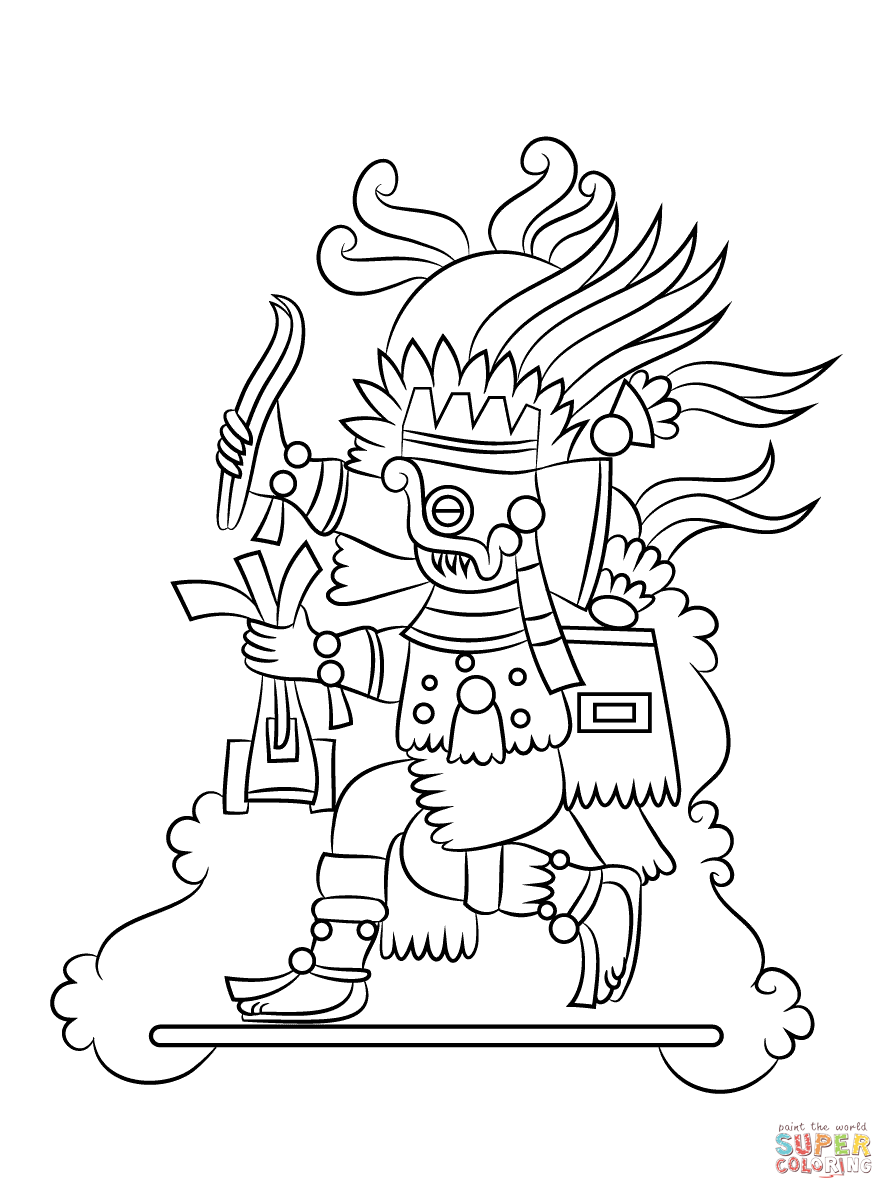 Aztec Civilization coloring #7, Download drawings