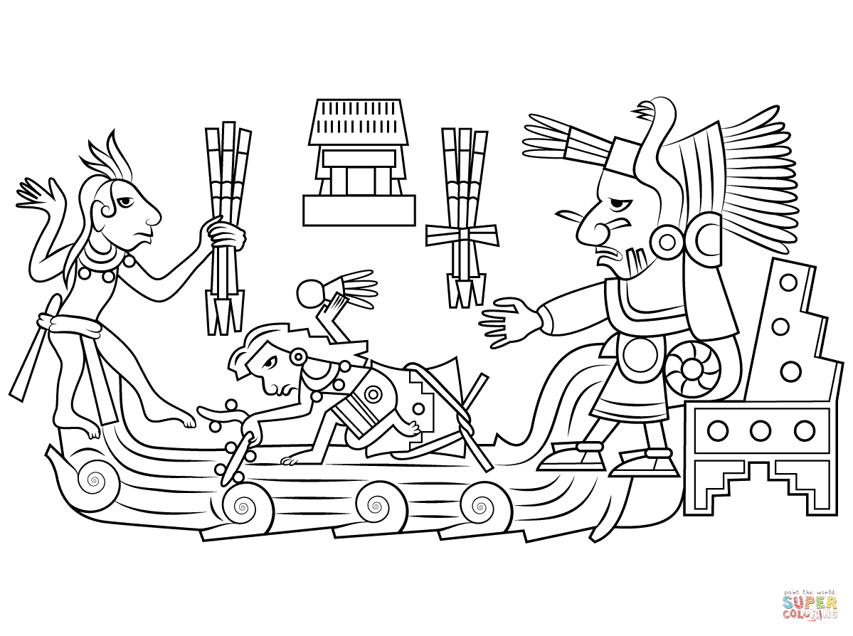 Aztec Civilization coloring #5, Download drawings
