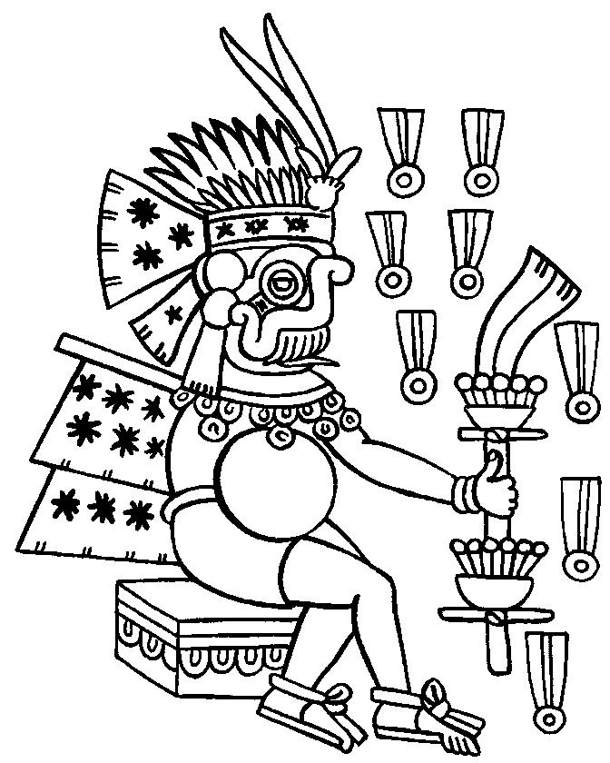 Aztec Civilization coloring #20, Download drawings