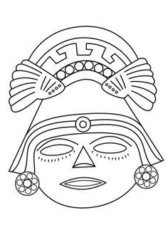 Aztec Civilization coloring #4, Download drawings