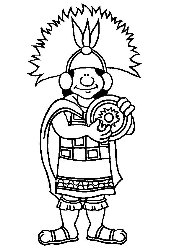 aztec pattern coloring pages - inca coloring download inca coloring
