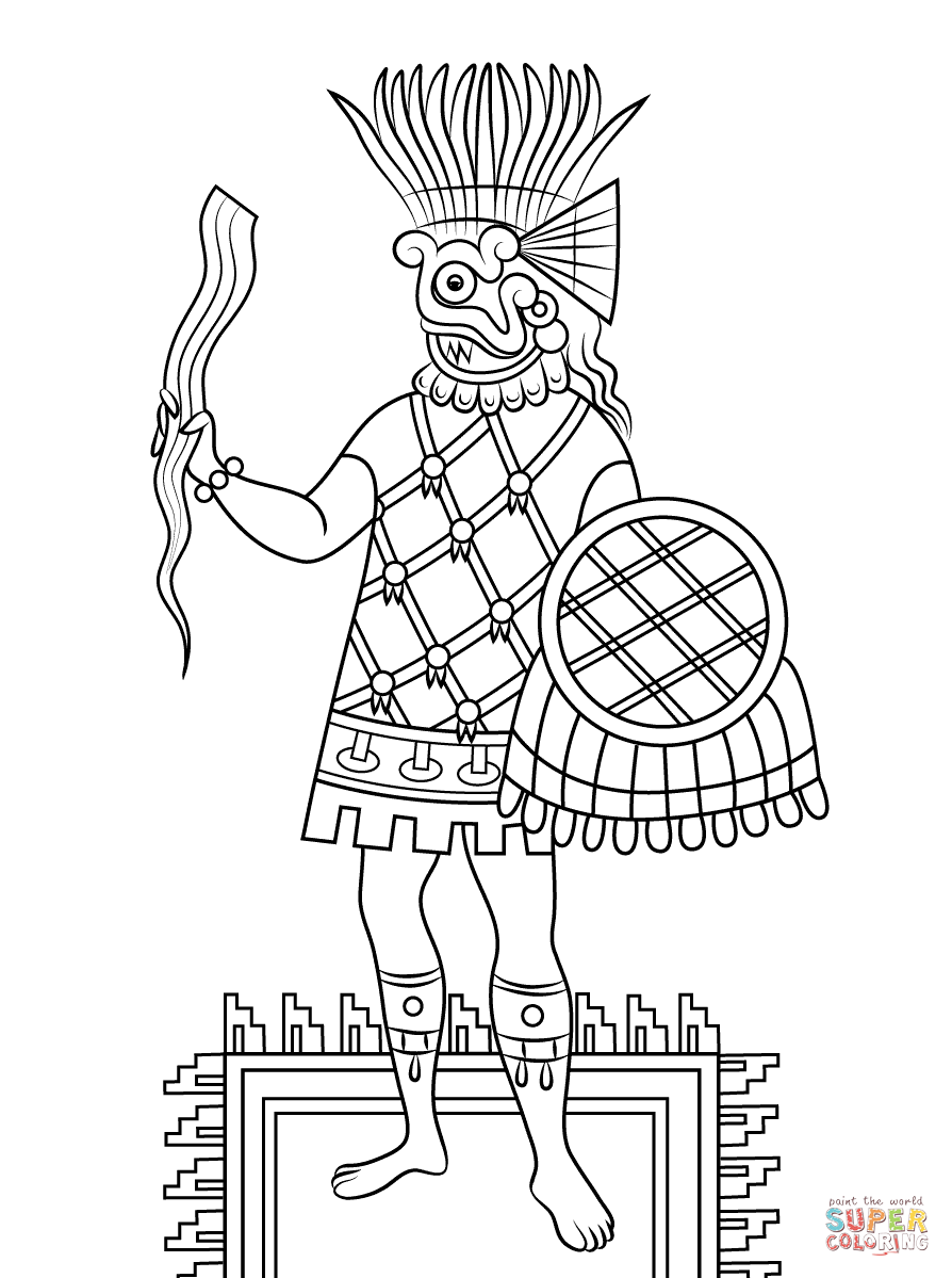 Aztec Civilization coloring #9, Download drawings