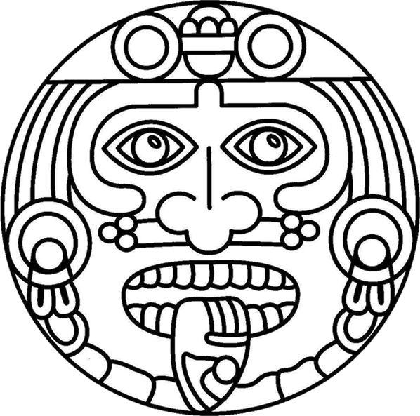 Aztecs coloring #3, Download drawings