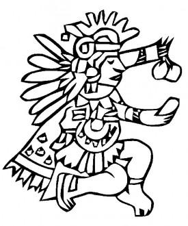 Aztecs coloring #4, Download drawings