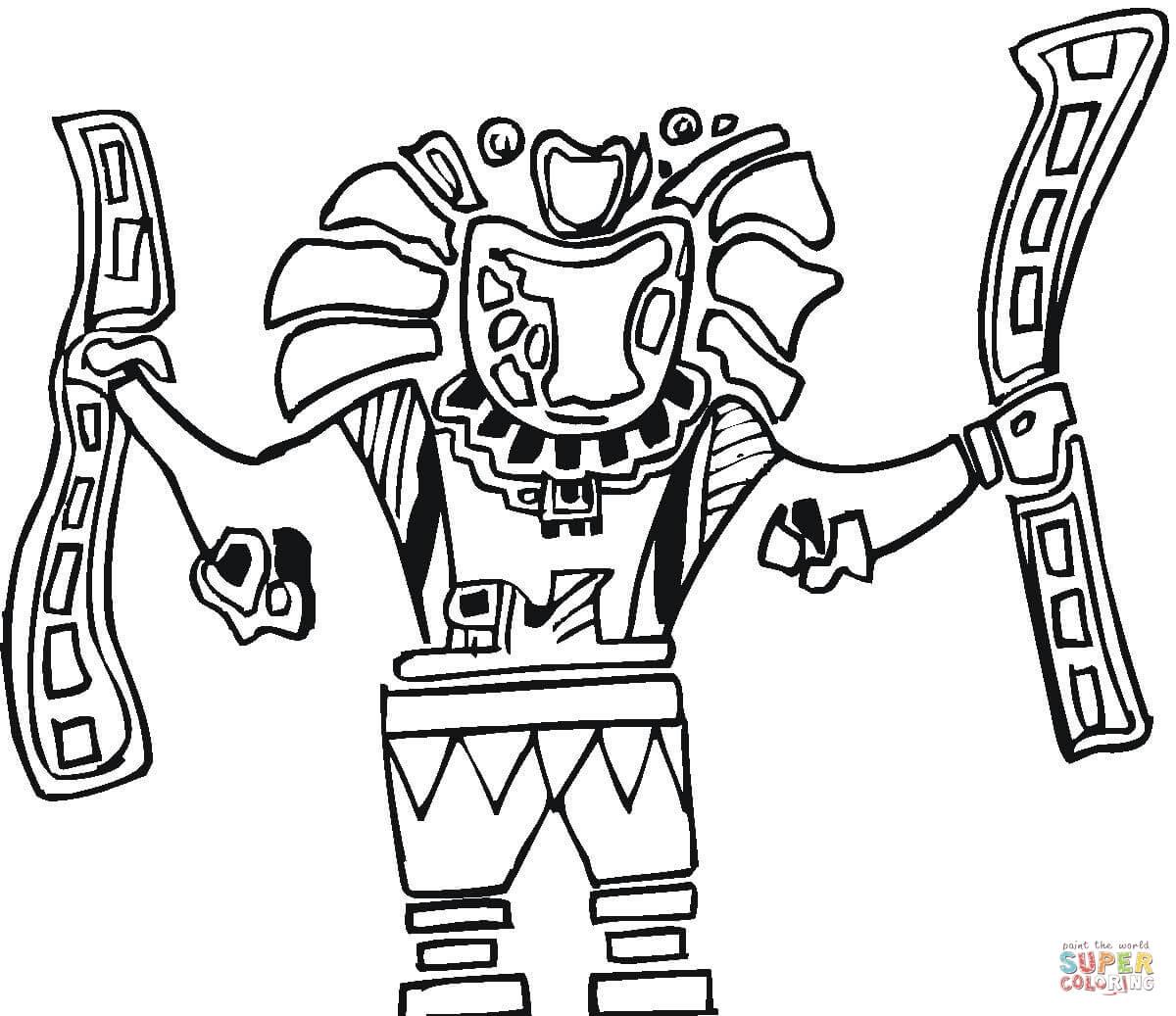 Aztecs coloring #9, Download drawings