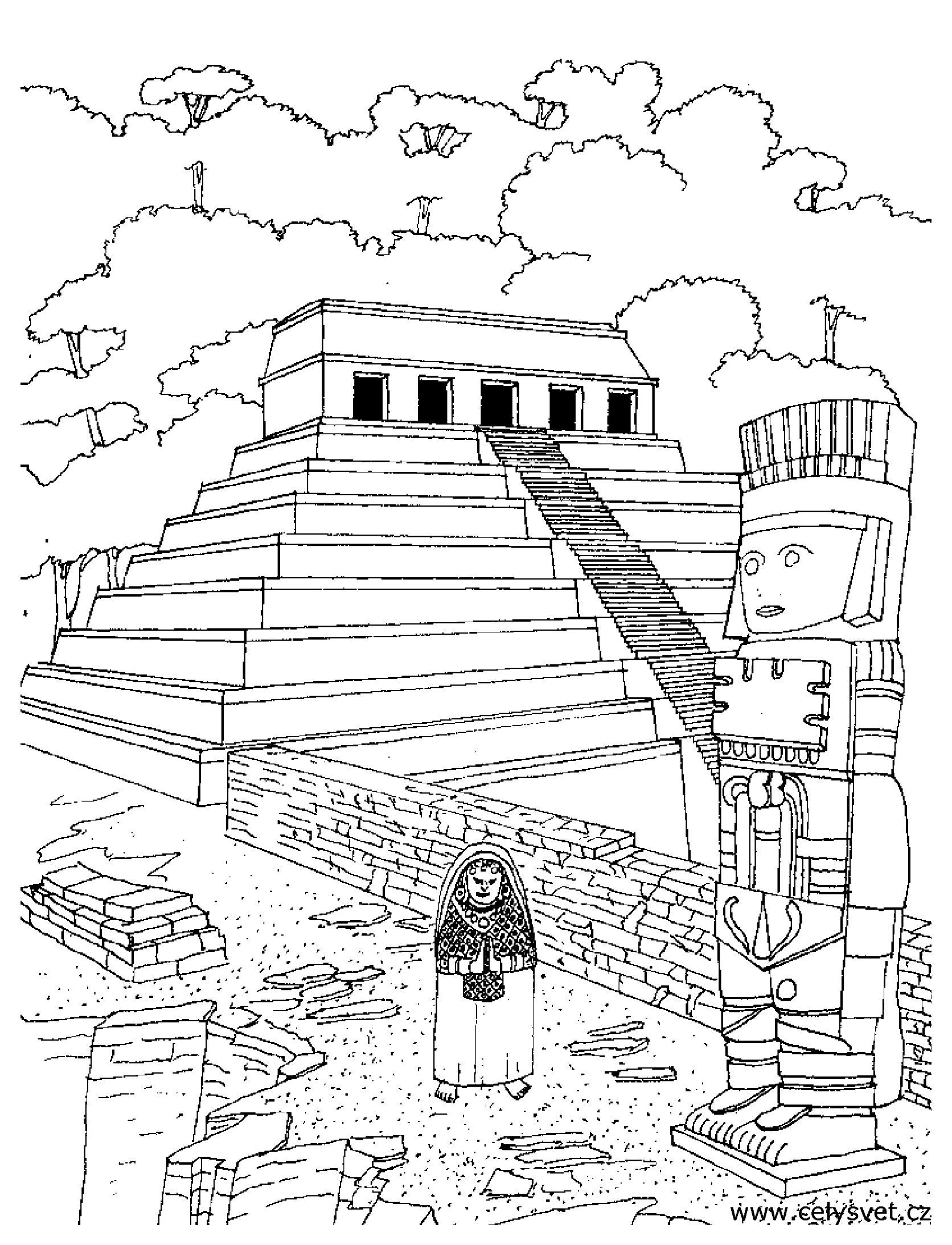 Aztecs coloring #6, Download drawings