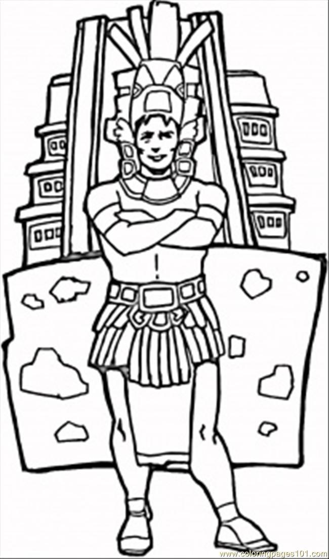 Aztecs coloring #2, Download drawings