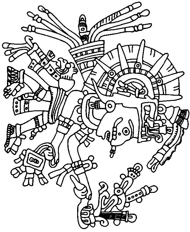 Aztecs coloring #20, Download drawings