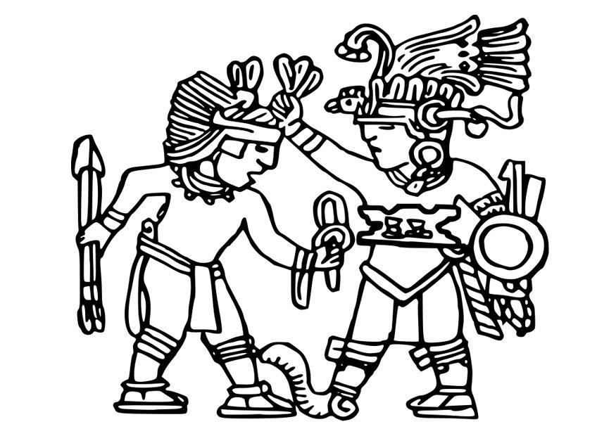 Aztecs coloring #8, Download drawings