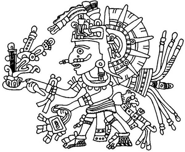 Aztecs coloring #5, Download drawings