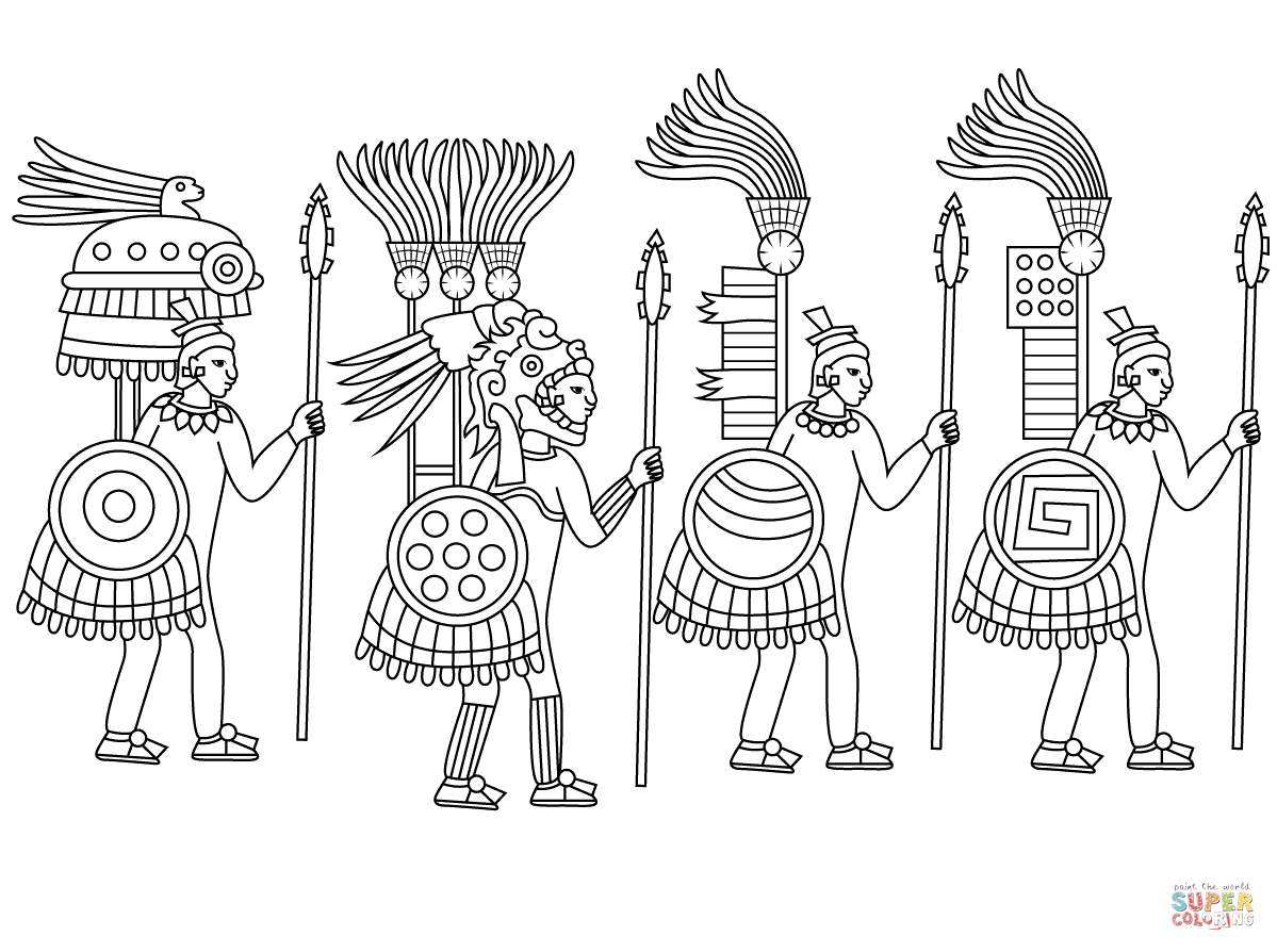 Aztec Civilization coloring #1, Download drawings