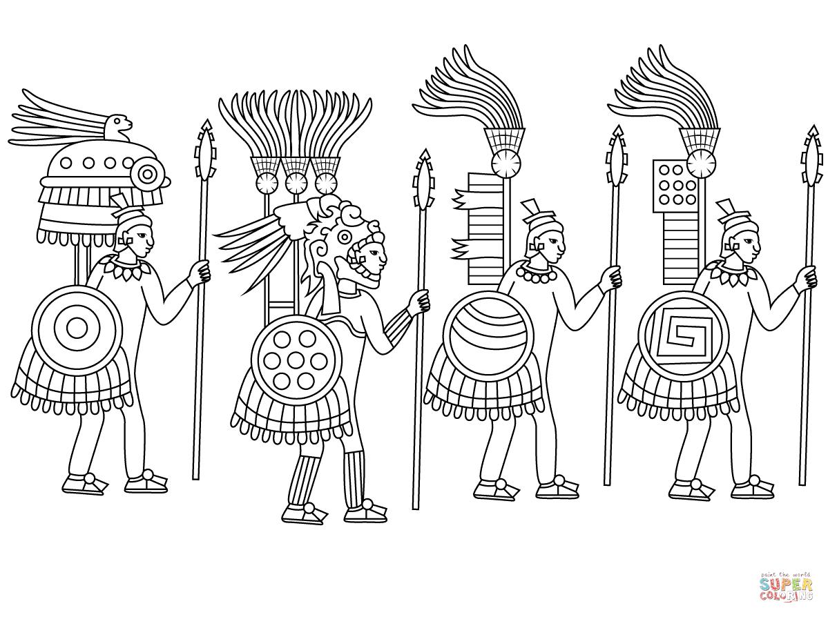 Aztec Civilization coloring #1, Download drawings