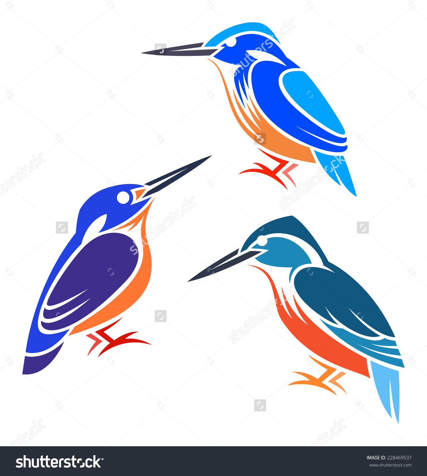 Azure Kingfisher clipart #2, Download drawings