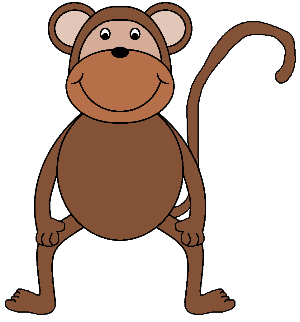 Monkey clipart #1, Download drawings