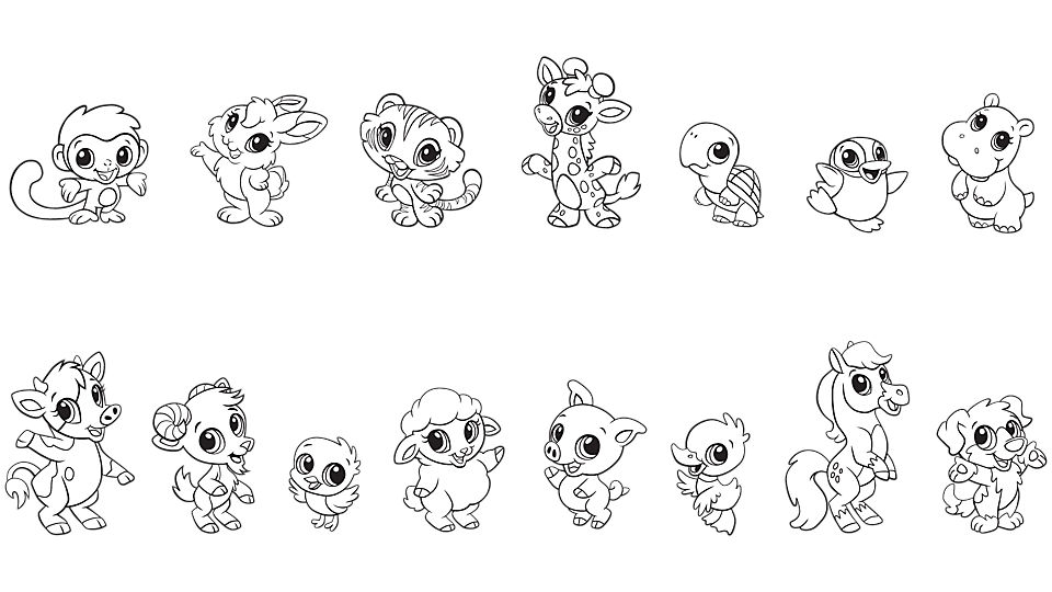 Baby Animal coloring #20, Download drawings