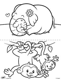 Baby Animal coloring #2, Download drawings