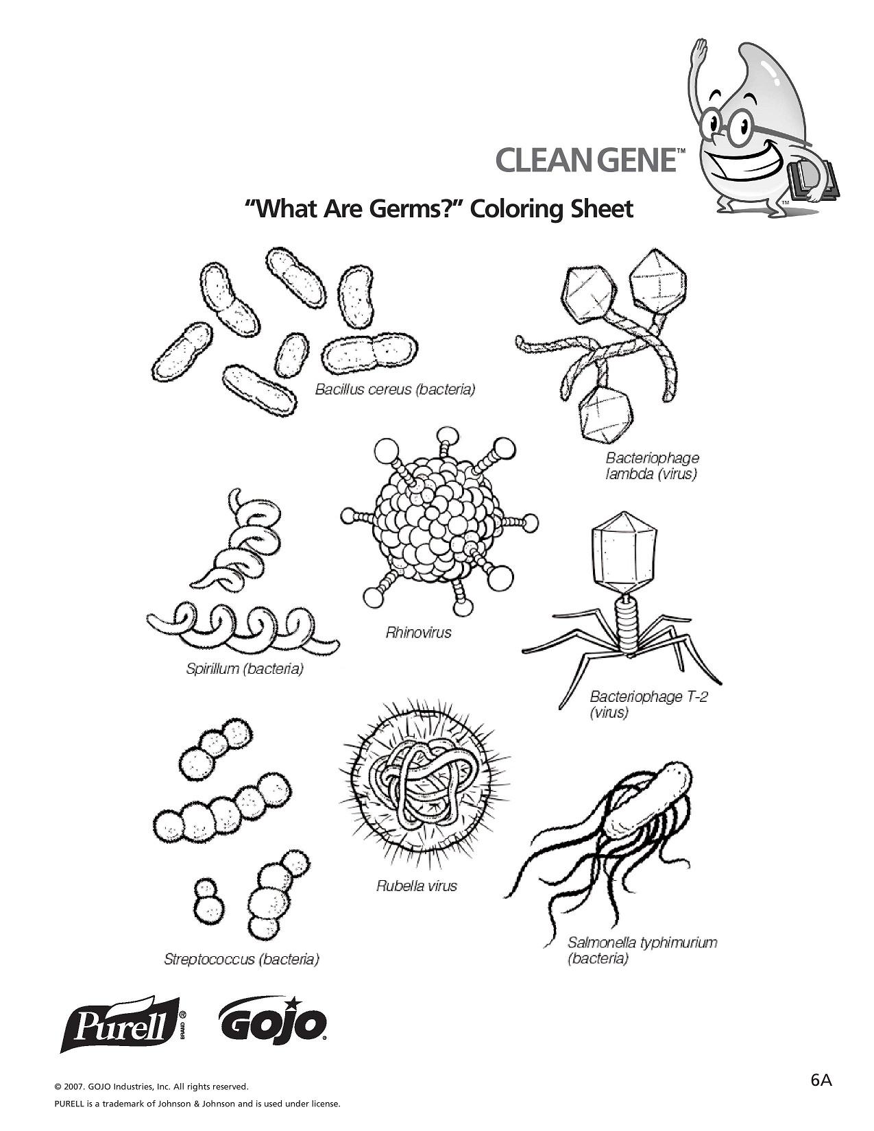 Microbe coloring #2, Download drawings