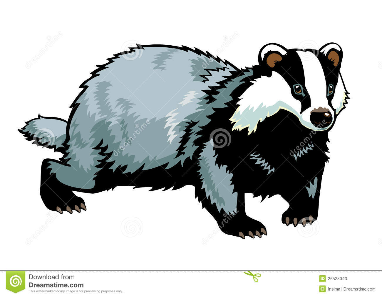 Badger clipart #18, Download drawings