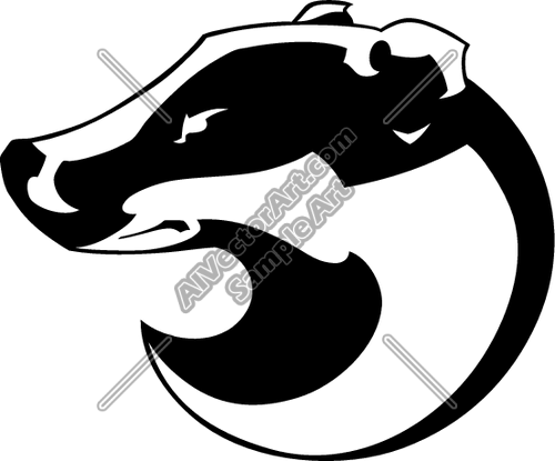 Badger clipart #4, Download drawings