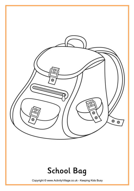 Bag coloring #15, Download drawings