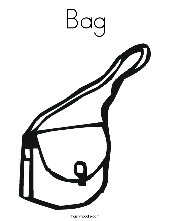 Bag coloring #11, Download drawings