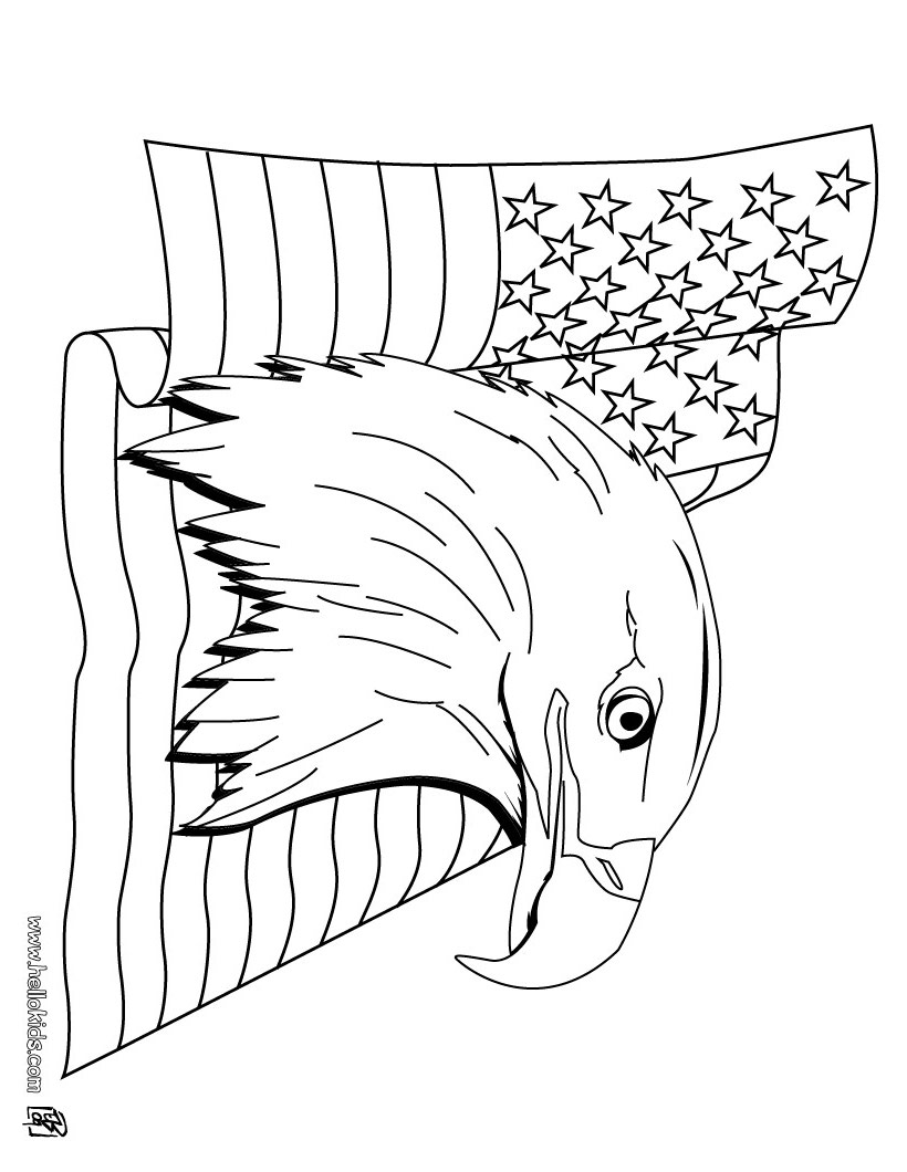 Bald Eagle coloring #12, Download drawings