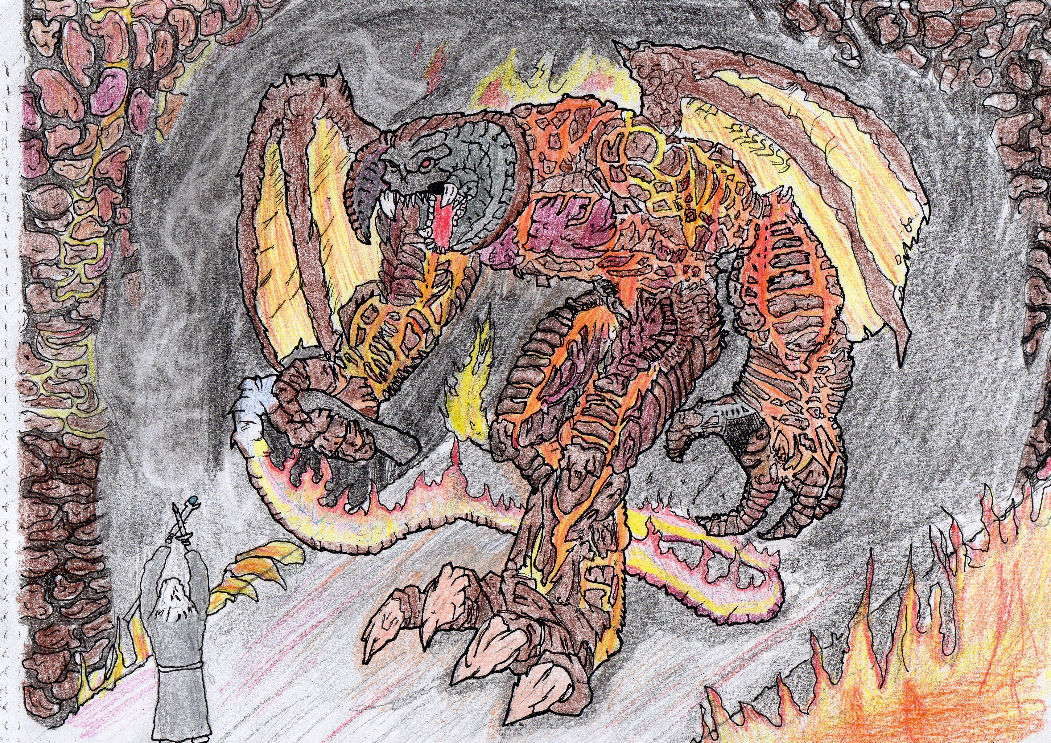 Balrog coloring #2, Download drawings