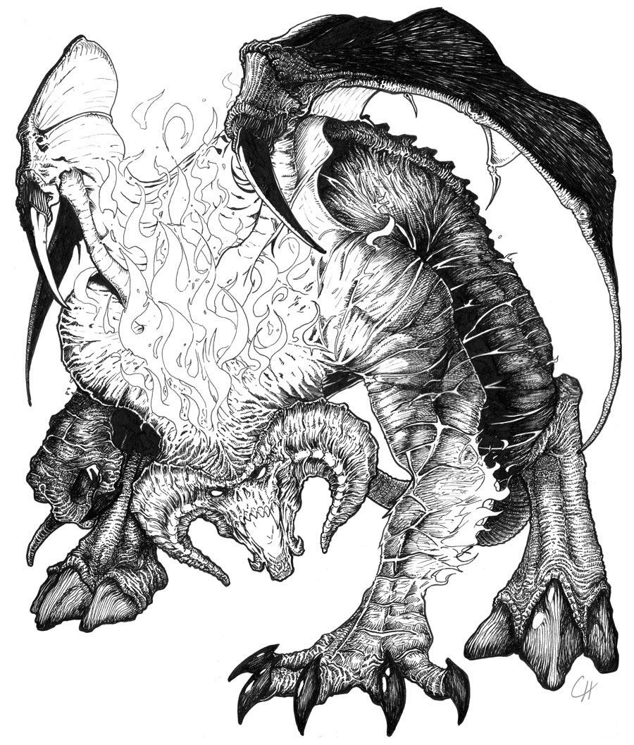Balrog coloring #7, Download drawings