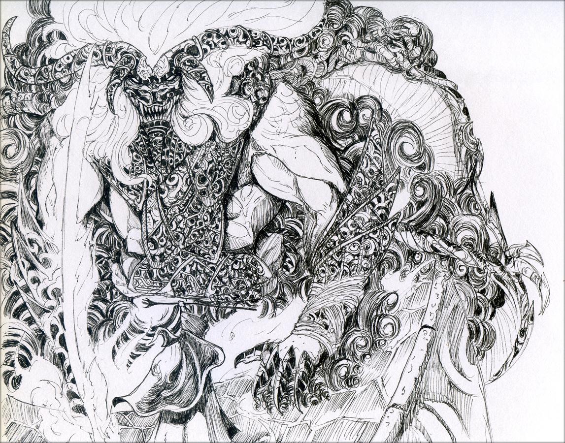Balrog coloring #5, Download drawings