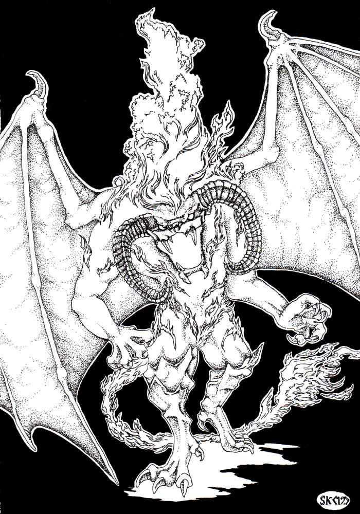 Balrog coloring #15, Download drawings