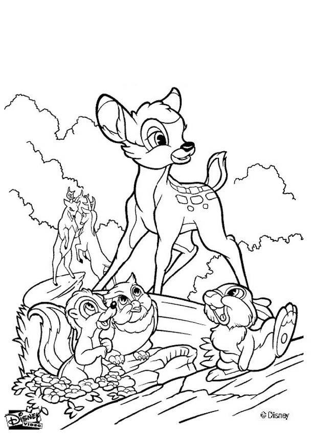 Bambi coloring #12, Download drawings