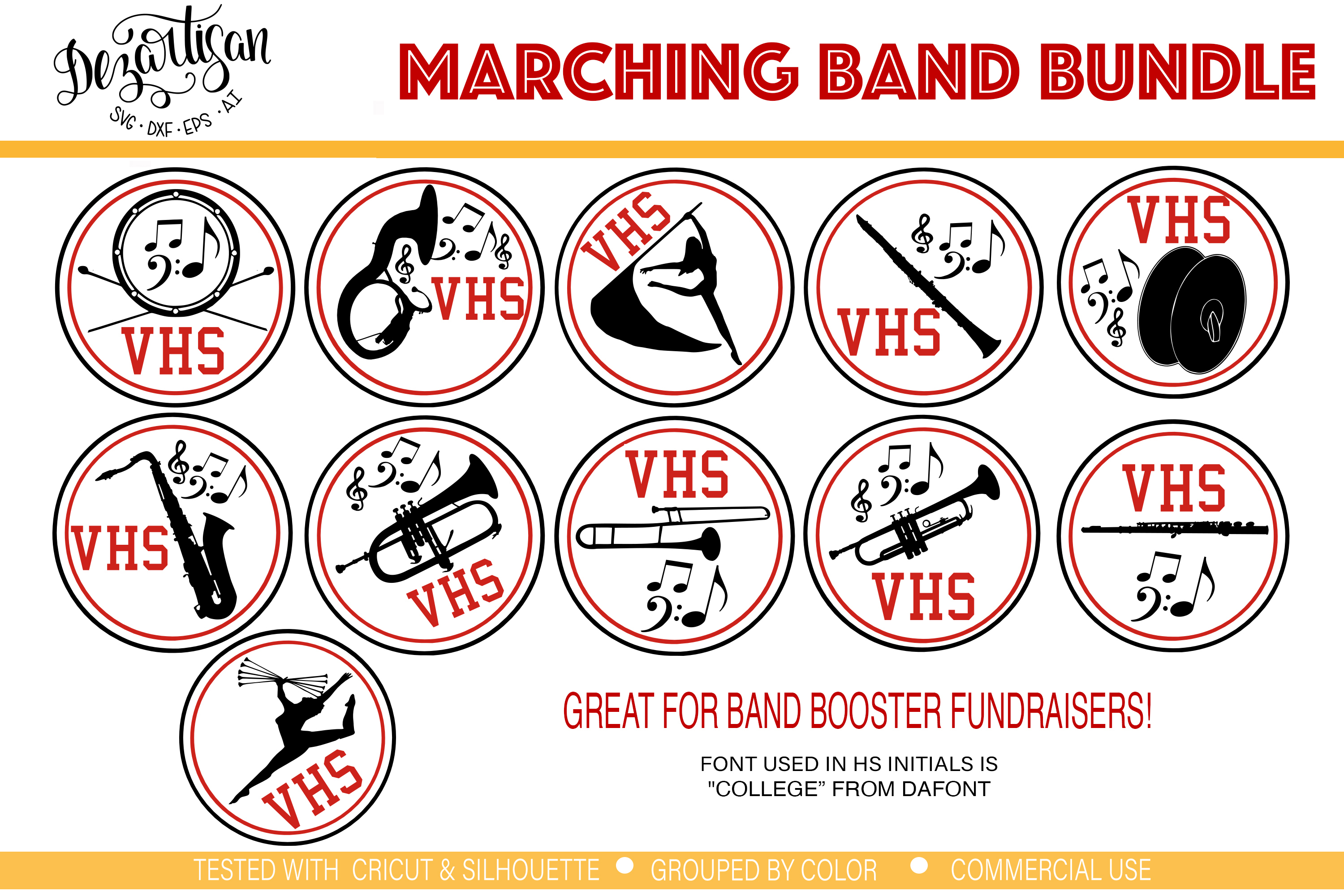 band svg #606, Download drawings