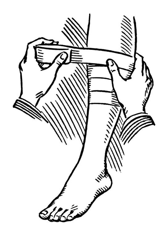 Bandage coloring #6, Download drawings