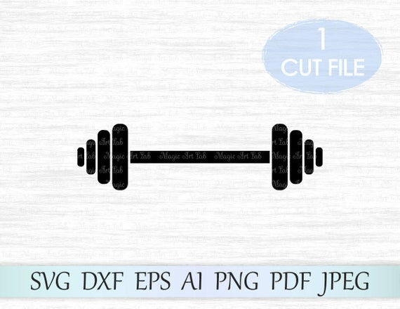 barbell svg #781, Download drawings