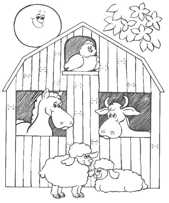 Barn coloring #15, Download drawings