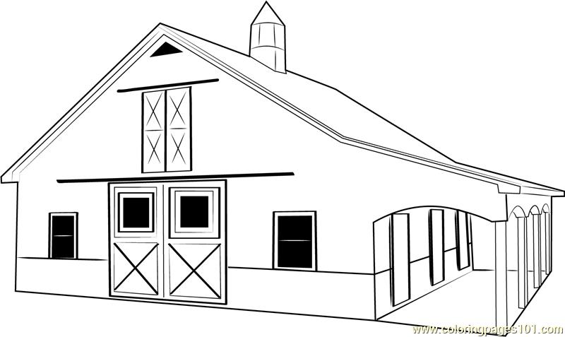 Barn coloring #2, Download drawings