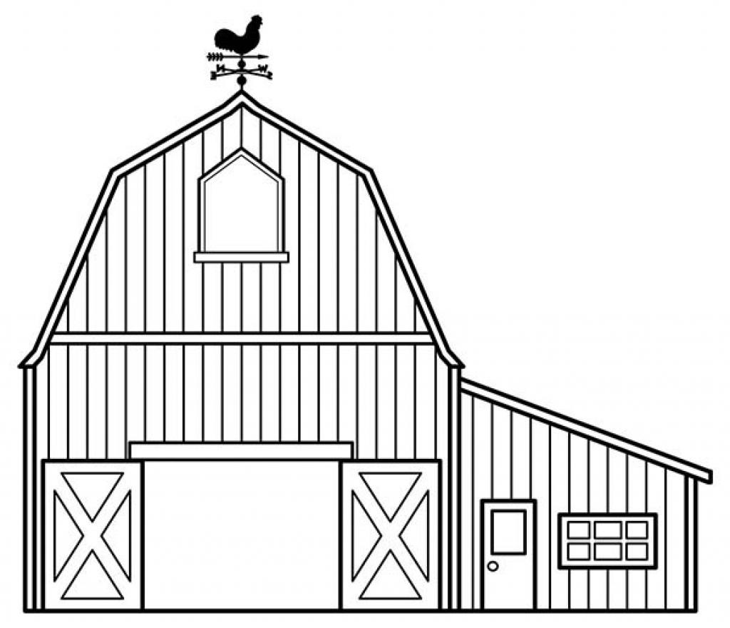 Barn coloring #10, Download drawings