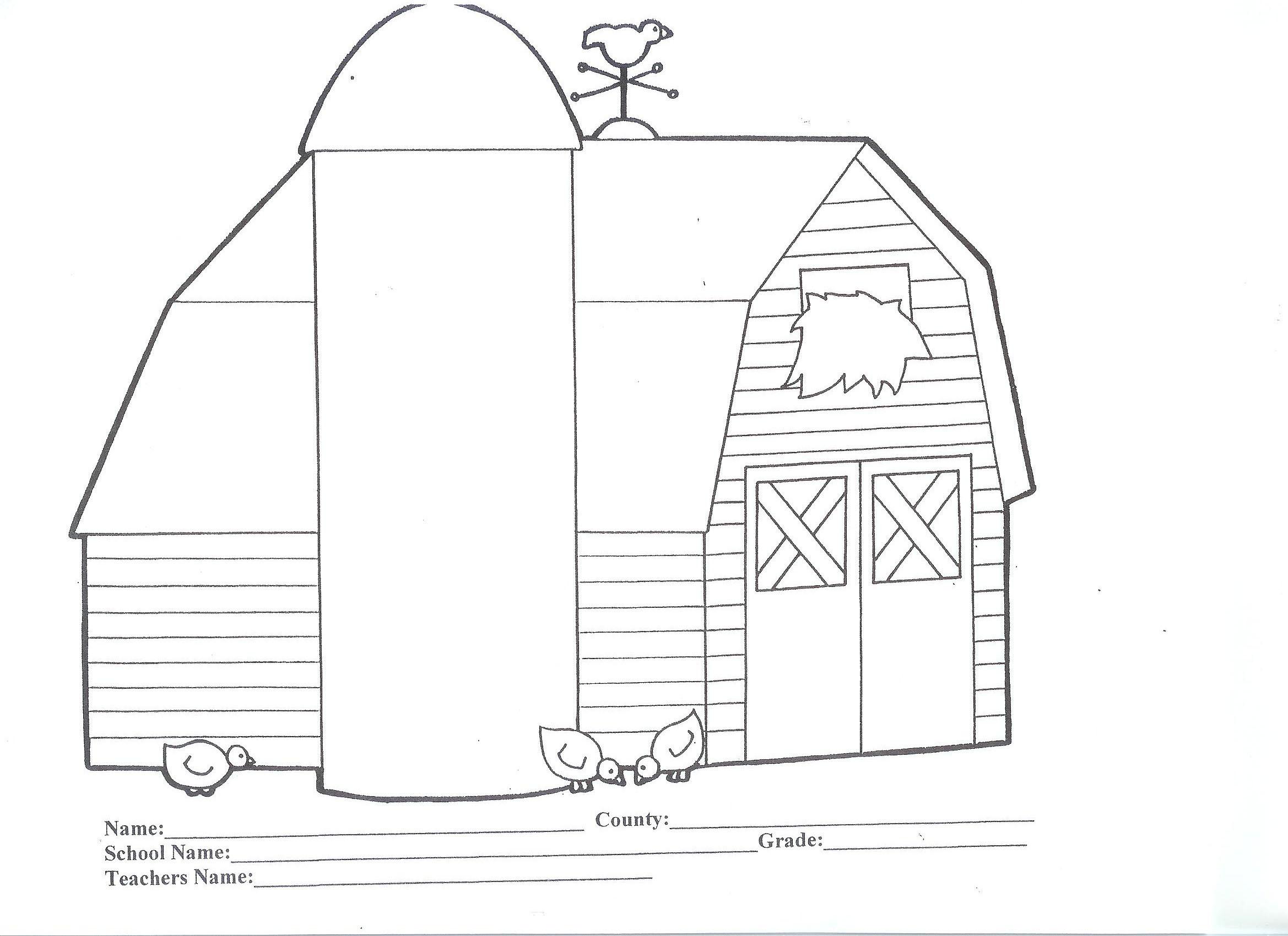 Barn coloring #7, Download drawings