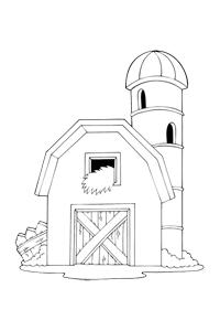 Barn coloring #8, Download drawings