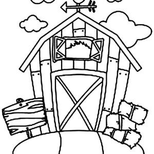 Barn coloring #11, Download drawings